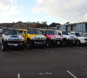 Jeep Limos and 4x4 Limos in Mid Wales